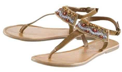 COOLWAY Zehentrenner-Sandale im Ethno-Stil