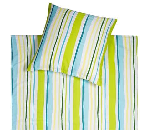 Seersucker Bettwäsche mit frischen Streifen