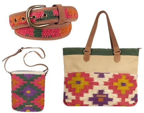 Accessoires mit Perlenbesatz in Mustern vertreten den typischen Ethno-Stil