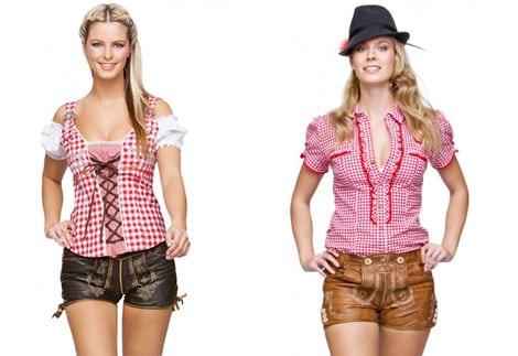 Moderne Trachtenmode: Ledershorts für Damen