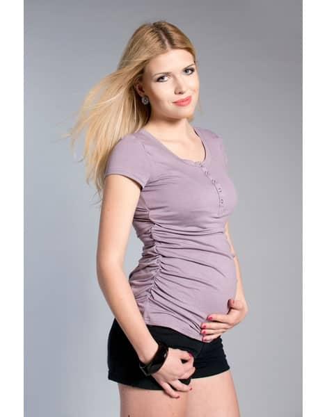 Umstands-& Stillshirt kurzarm Dilian vintage-rosa