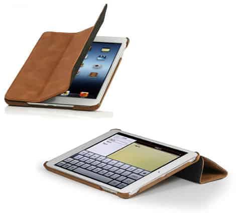 StilGut - Couverture Case für iPad Mini, cognacfarben, Echtleder