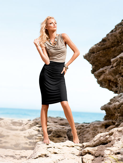 Strandkleid im Two-tone-Look