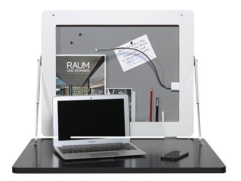 Aufklappbarer Wand-Schreibtisch