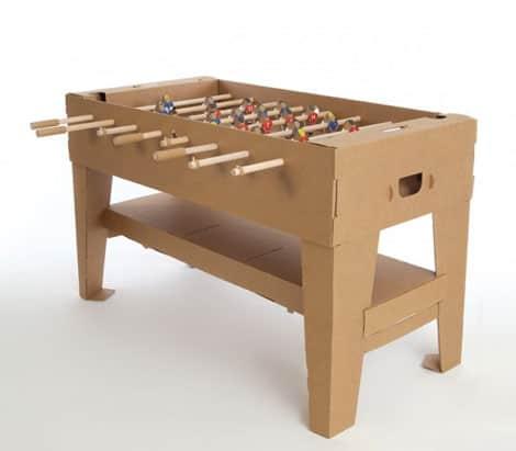 Tischfußball-Set aus Karton