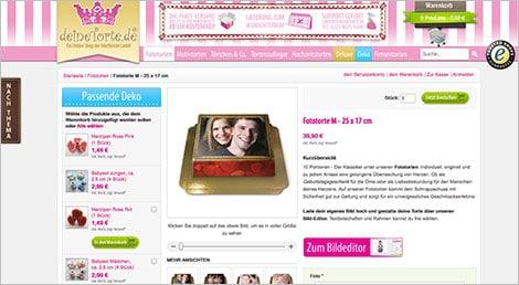 Torte mit Motiv online bestellen und zum Wunschtermin liefern lassen