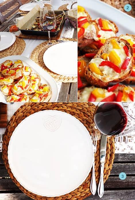 Bruschetta Rezept mit Paprika und Zwiebelbrot