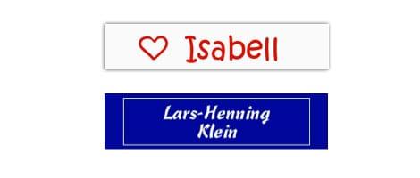 Namensetiketten sind praktisch für die Kennzeichnung der Kleidung in Kita und Schule