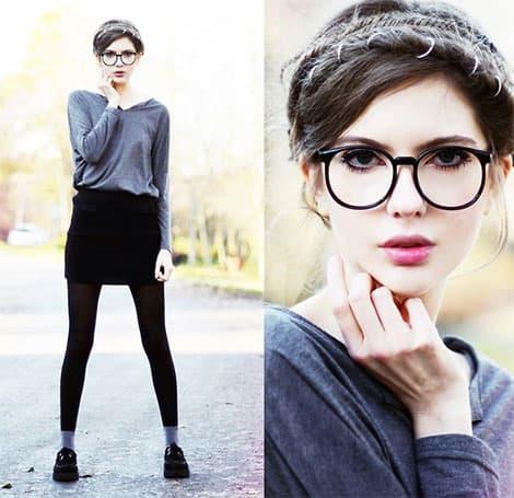 Runde Formen finden wir bei den Brillen-Trends 2015