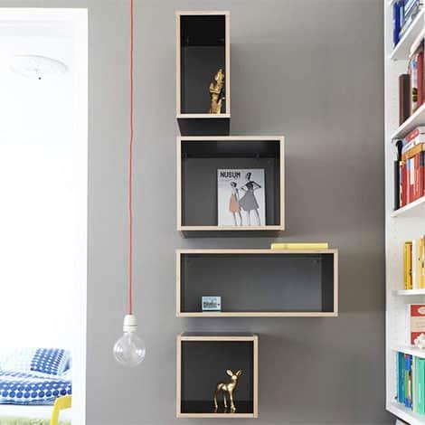 Modulare Möbel eignen sich hervorragend als Wandregal