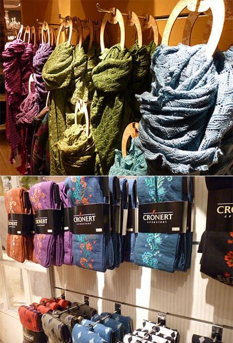 Deerberg bietet Accessoires wie Strumpfhosen und Schals