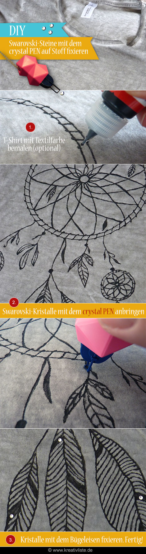 DIY - Swarovski Strass-Steine auf Textilien anbringen mit dem crystal PEN