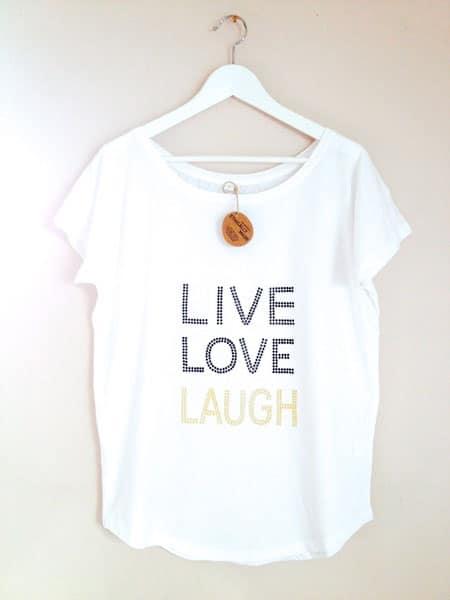 Statement-Shirt mit Nietenbesatz