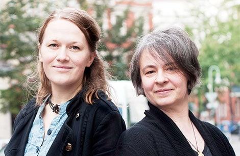 Vesta Heyn und Katalin Pöge wollen die Freude an der Briefpost wieder aufleben lassen