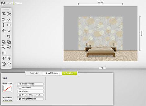Tapezieren mit der selbst gestalteten Tapete - mit dem Tapeten-Designer von www.deindruckwerk.de ist dies möglich