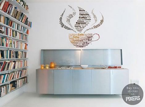 Auch die Küche lässt sich mit Wandstickern effektvoll gestalten© pixers.de