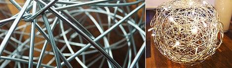 Lampe selber bauen aus Metalldraht, Papier oder Holz