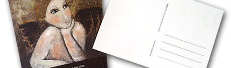 Werbung im Postkartenformat
