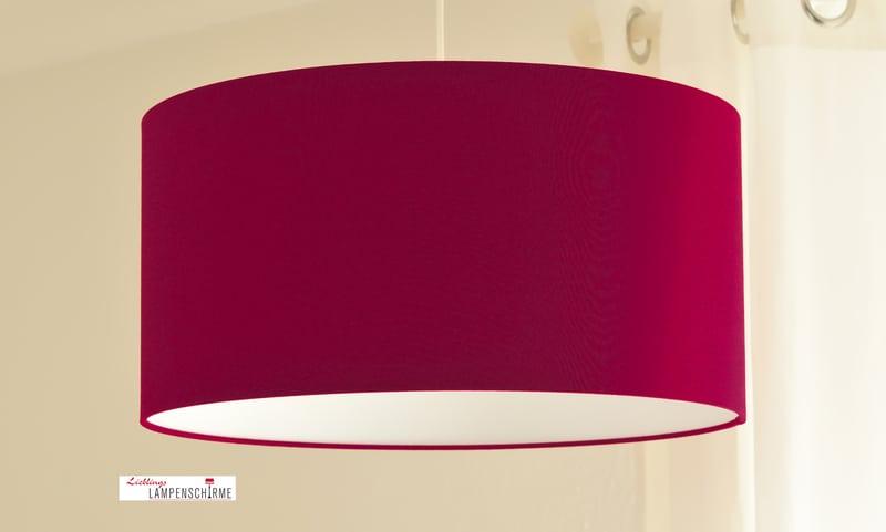 Lampenschirm in der Trendfarbe Marsala