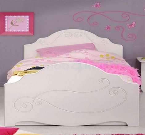 Neutral und trotzdem mädchenhaft: Französisches Bett Alice 120x200