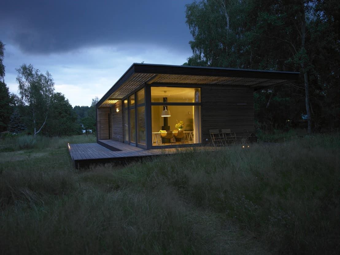 Das Sommerhaus PIU gibt es in Größen von 45 bis 115 qm