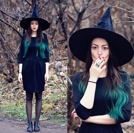 Als Hexe zur Halloweenparty
