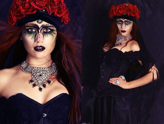Als schwarze Hexe zum Fest