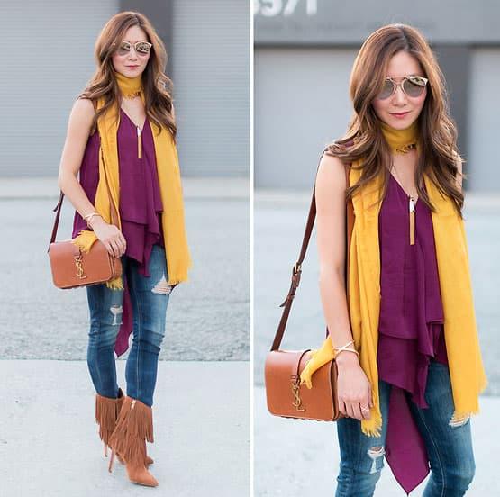 Trendy Stiefeletten mit modischen Details frischen das Outfit auf