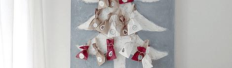 DIY Adventskalender: Ein Weihnachtsbaum auf Leinwand