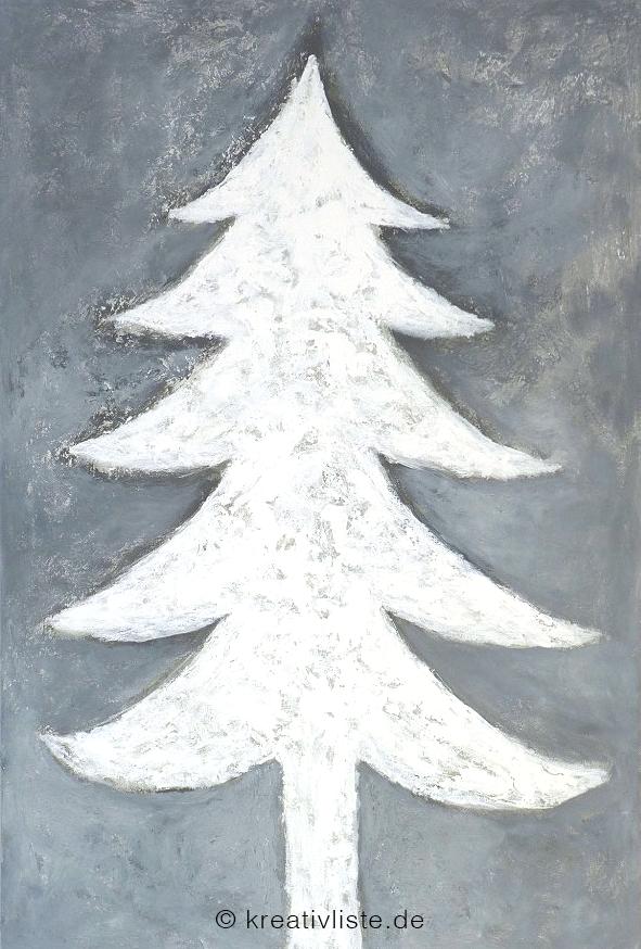 Das Weihnachtsbaumnmotiv als Grundlage für den Kalender