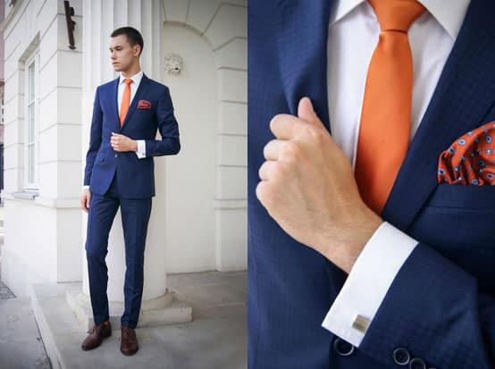 Ein Einstecktuch sorgt für Abwechslung im Outfit
