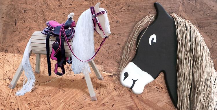 Geschenkidee für kleine Mädchen: ein Holzpferd zum Voltigieren