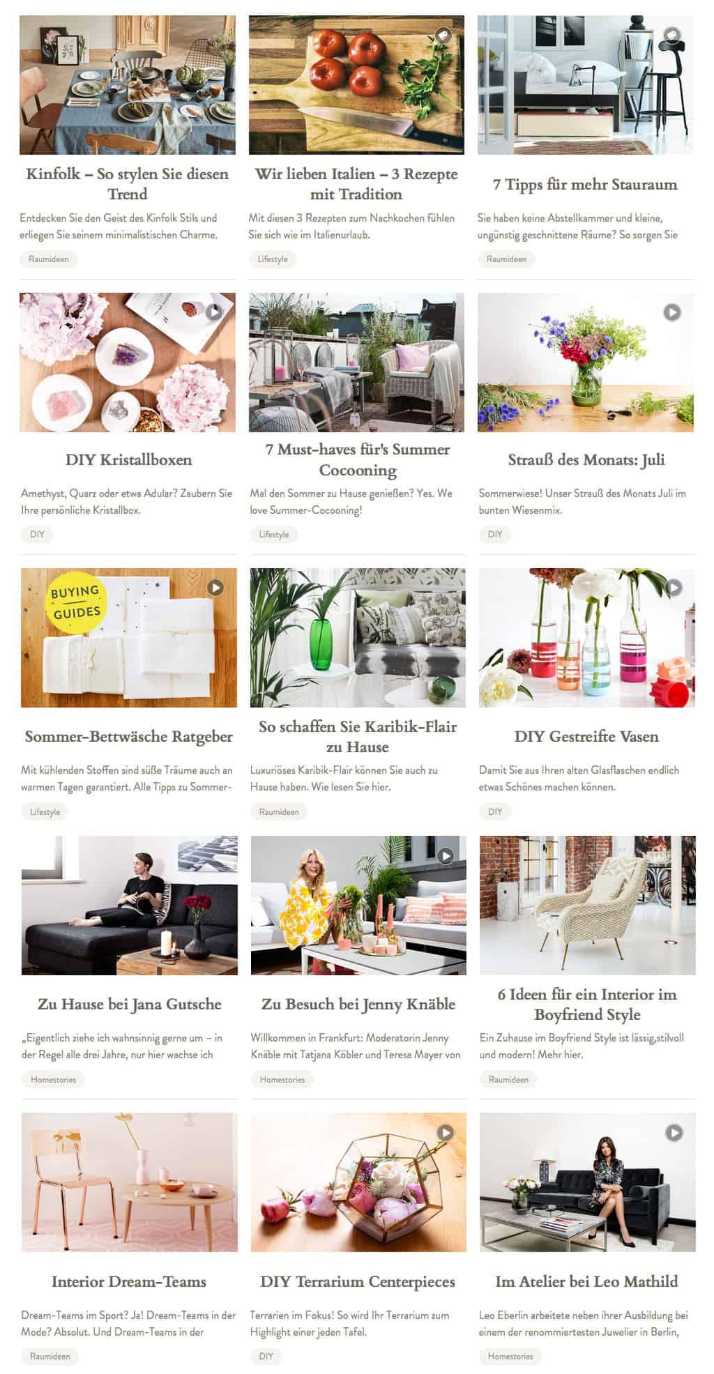 Das Magazin von Westwing hält neben Deko Ideen auch Rezepte und DIY-Anleitungen bereit
