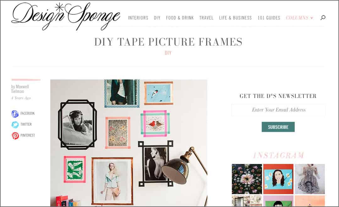Fotowand gestalten mit Washi Tape