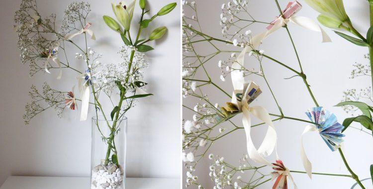 Geldgeschenk basteln in letzter Minute: mit Schnittblumen