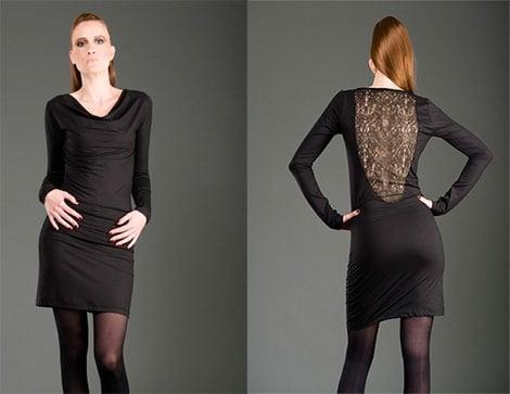 Kleid Modest mit Spitzen-Rücken