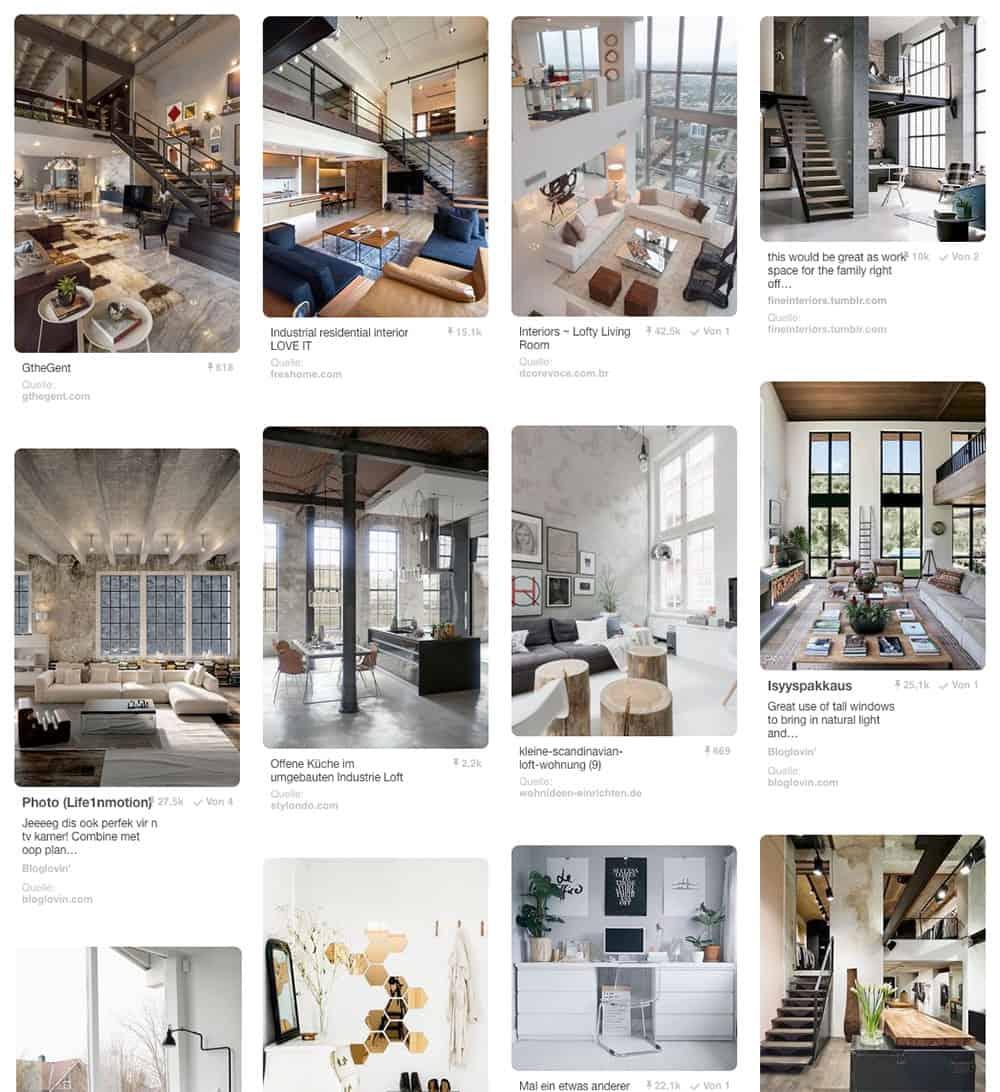 Gro z gig einrichtungsideen im minimalistischen wohnstil for Pinnwand modern