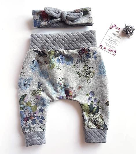 blumen stoff babyhose - Handgenähte Pumphosen, Kleider und Accessoires für Babys
