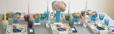 Dekoidee für die selbst gestaltete Hochzeitstafel