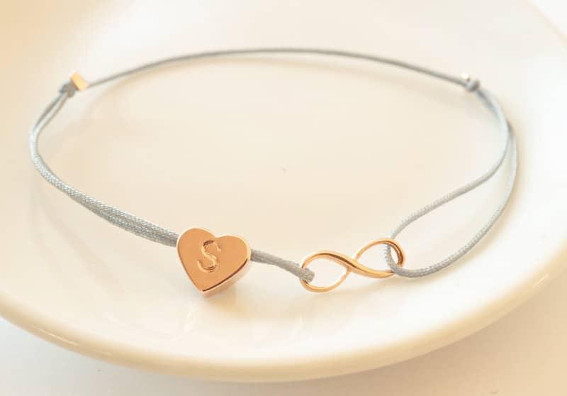 Armband aus Nylon mit Unendlichkeits-Symbol