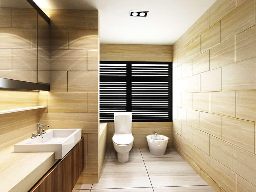 Modernes Waschbecken mit Kante