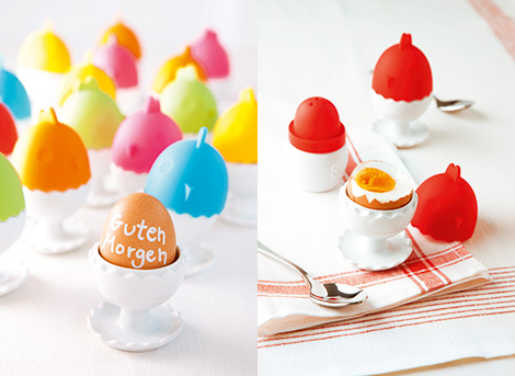 Eierbecher mit integriertem Eierwärmer