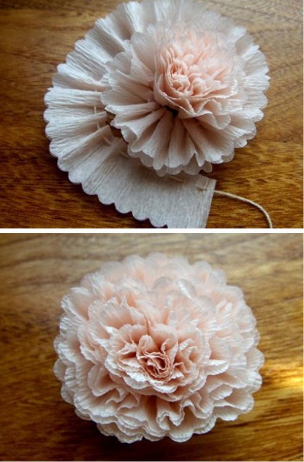 Gut bekannt Papierblumen basteln aus Krepppapier, Seidenpapier IK64