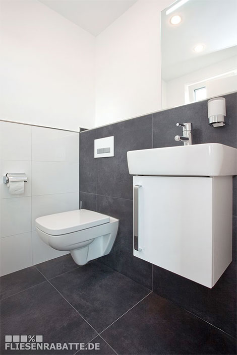 Badezimmer modern gestalten mit Trend-Fliesen