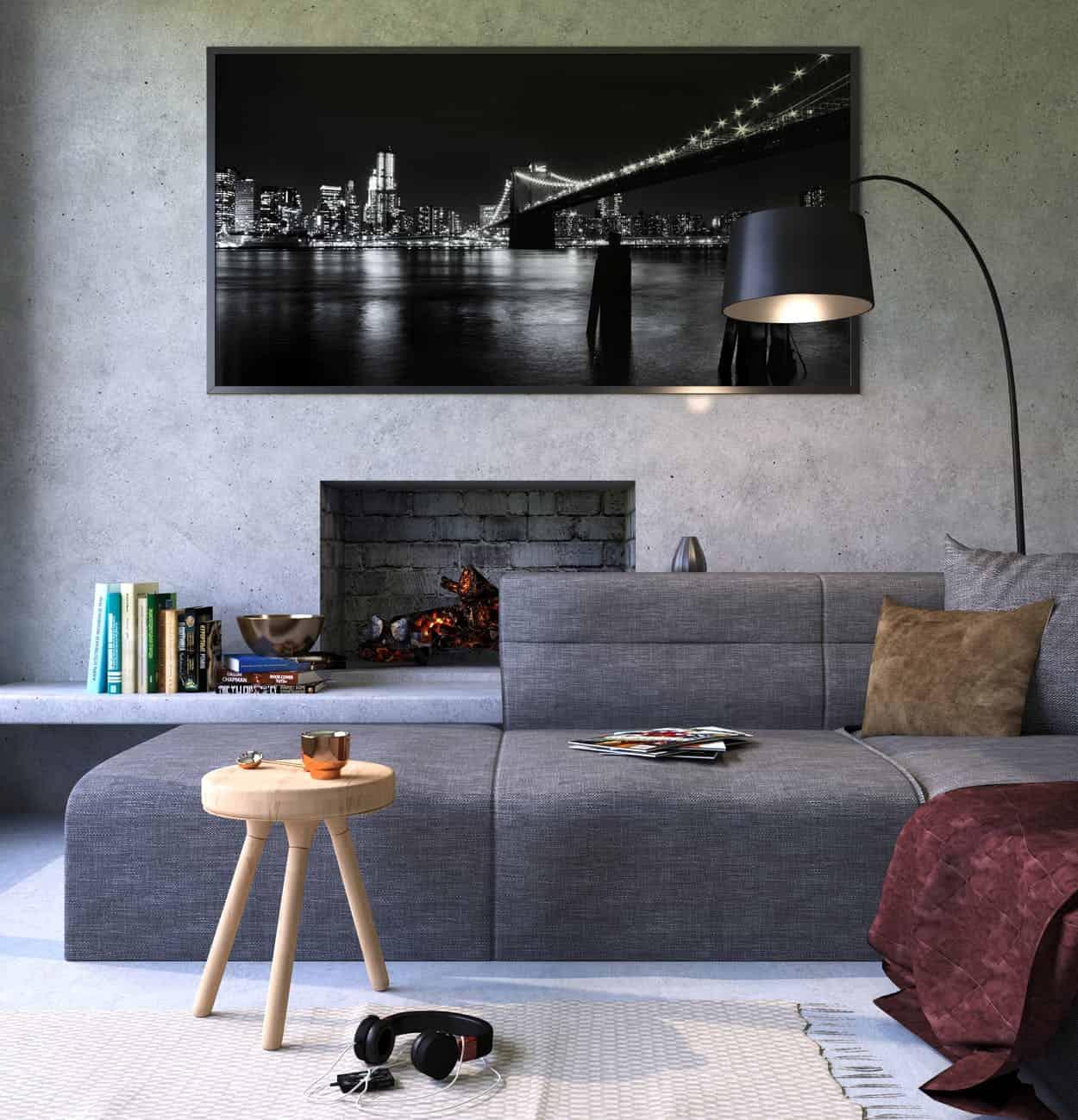 moderner kamin. Black Bedroom Furniture Sets. Home Design Ideas