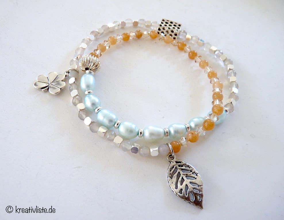 DIY Armband basteln mit Perlen und Silikonfaden