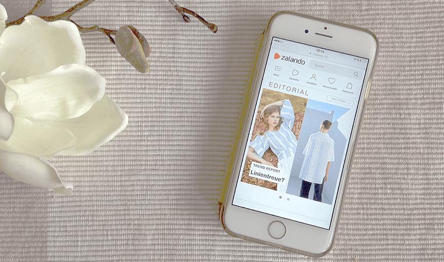 Das Editorial von Zalando ist ein Online-Fashionmagazin