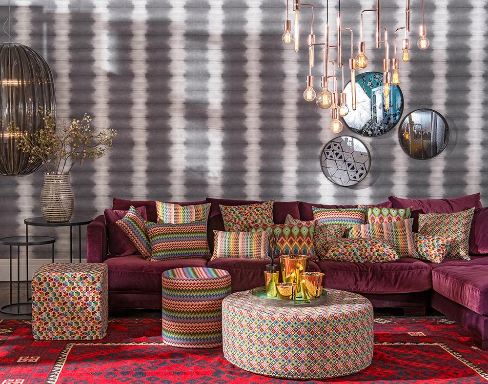 Hocker und Sitzmöbel im typischen Bohemian Style