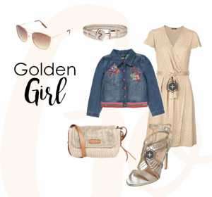 "Outfitidee ""Golden Girl"""