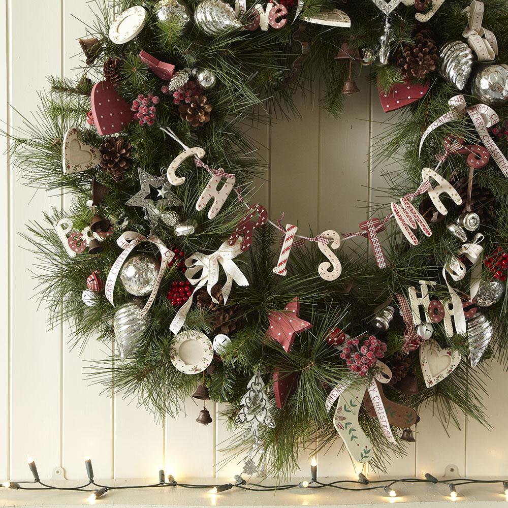 Kranz Als Dekoration Zu Weihnachten